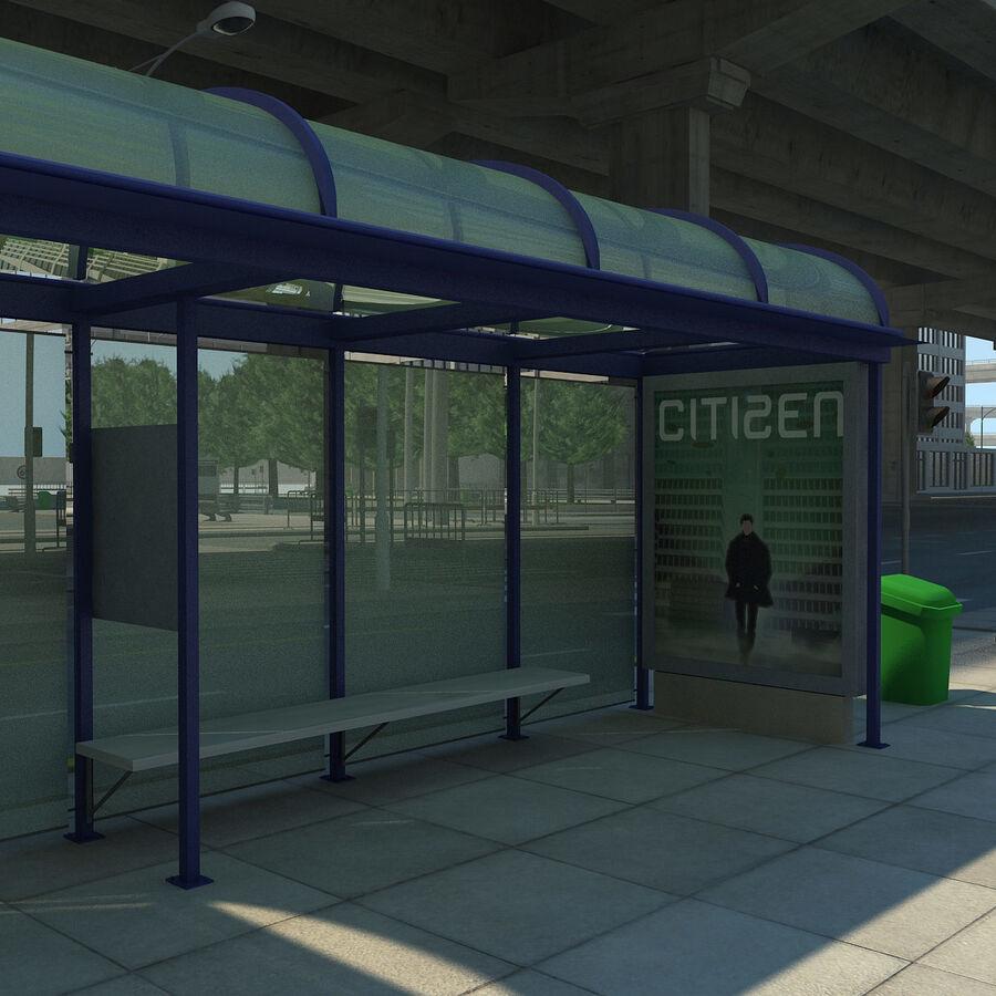 Город HD Городской пейзаж с шоссе royalty-free 3d model - Preview no. 11