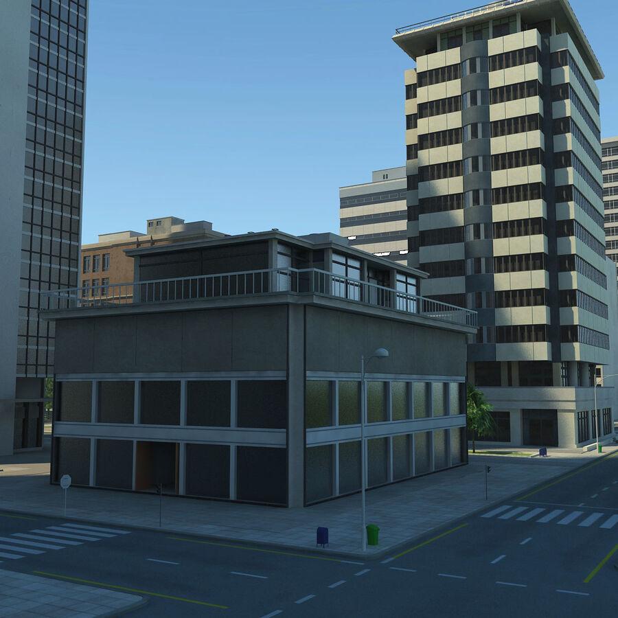 Город HD Городской пейзаж с шоссе royalty-free 3d model - Preview no. 21