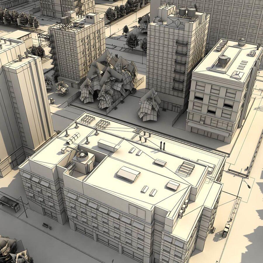 Город HD Городской пейзаж с шоссе royalty-free 3d model - Preview no. 28