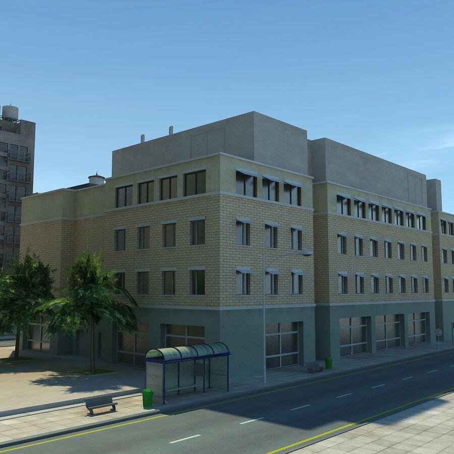 Город HD Городской пейзаж с шоссе royalty-free 3d model - Preview no. 22