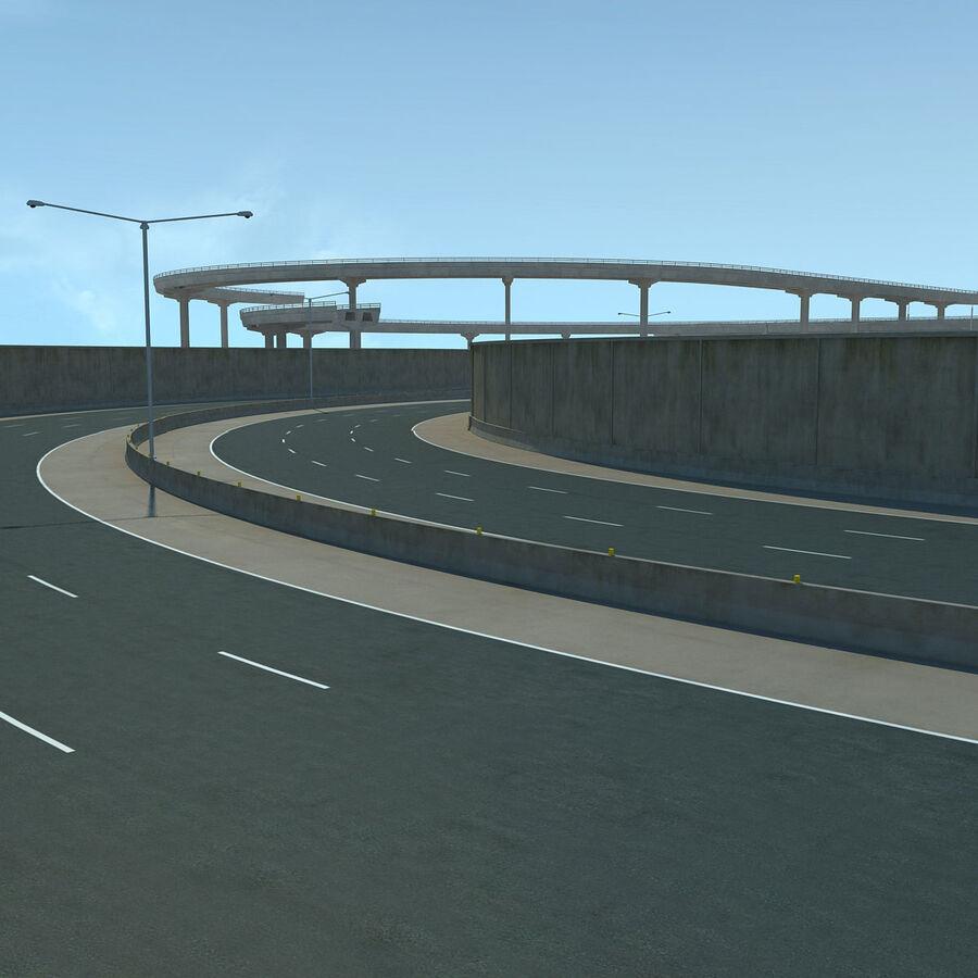 Город HD Городской пейзаж с шоссе royalty-free 3d model - Preview no. 15