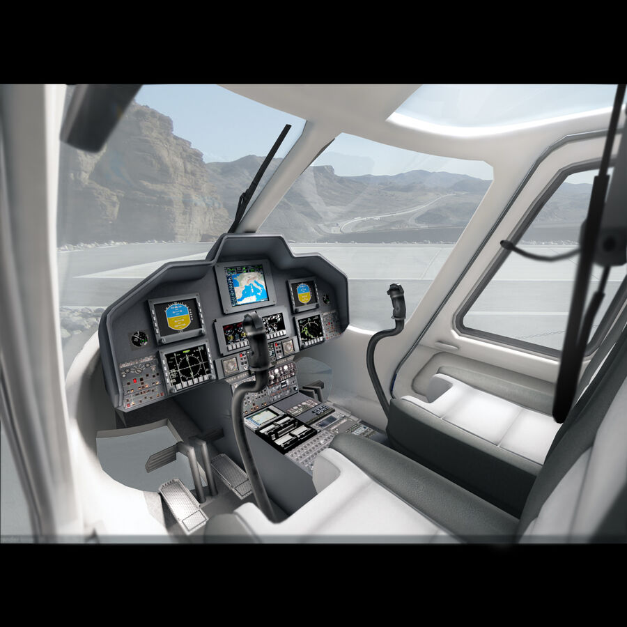 Agusta AW 109 Helikopter royalty-free 3d model - Preview no. 5