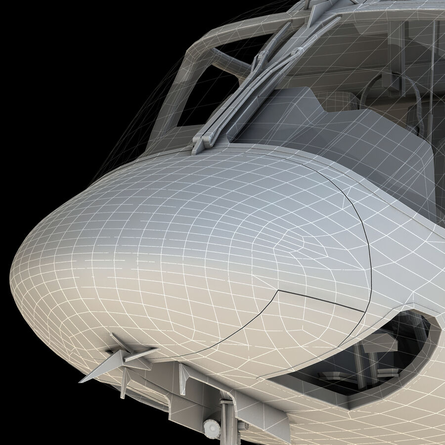 Agusta AW 109 Helikopter royalty-free 3d model - Preview no. 21
