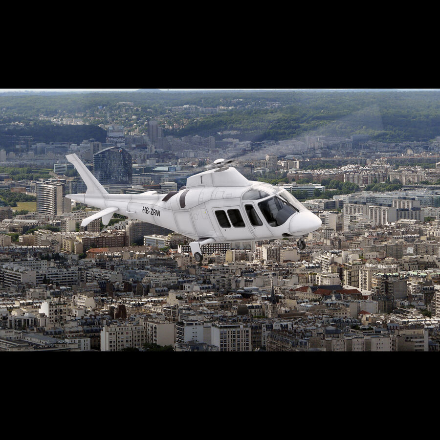 Agusta AW 109 Helikopter royalty-free 3d model - Preview no. 4