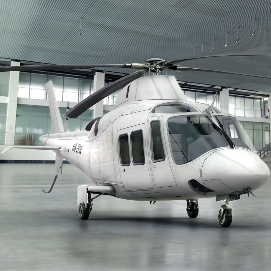 Agusta AW 109 Helikopter royalty-free 3d model - Preview no. 2