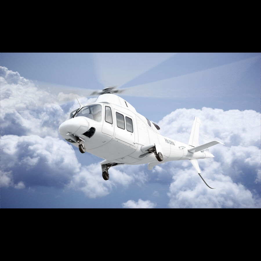 Agusta AW 109 Helikopter royalty-free 3d model - Preview no. 3