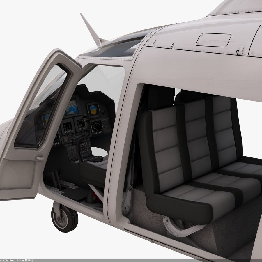 Agusta AW 109 Helikopter royalty-free 3d model - Preview no. 13