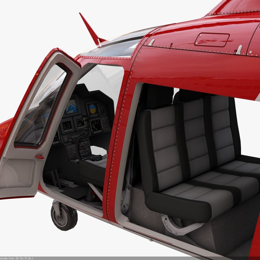 Agusta AW 109 Acil royalty-free 3d model - Preview no. 17