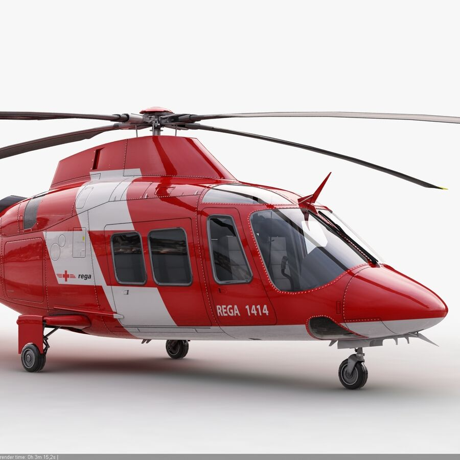 Agusta AW 109 Acil royalty-free 3d model - Preview no. 7