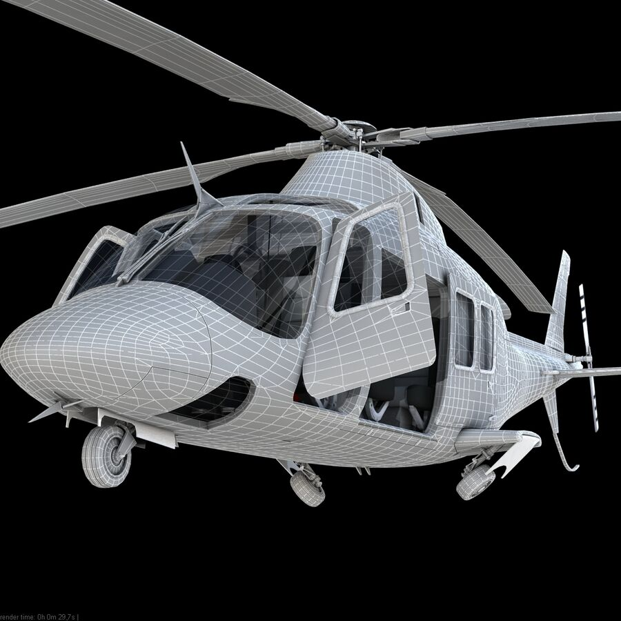 Agusta AW 109 Acil royalty-free 3d model - Preview no. 23