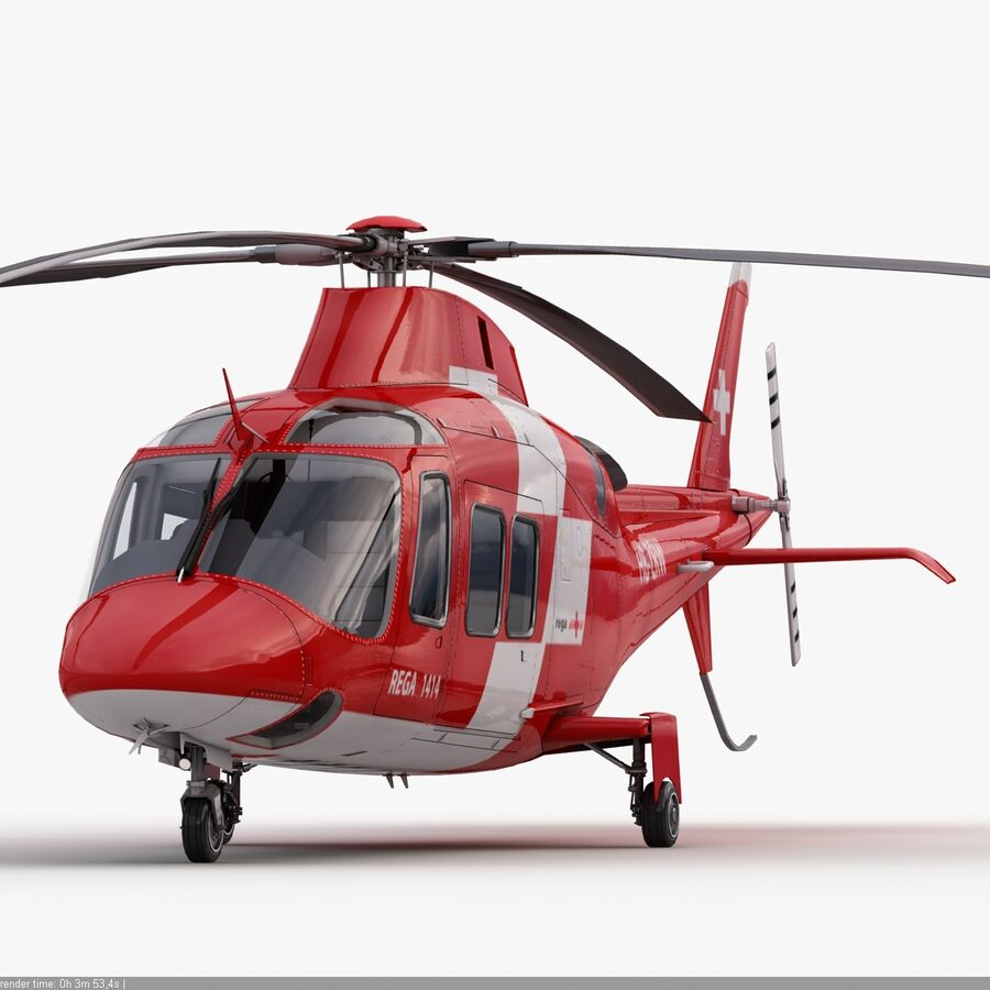 Agusta AW 109 Acil royalty-free 3d model - Preview no. 10