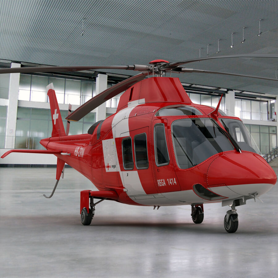 Agusta AW 109 Acil royalty-free 3d model - Preview no. 2