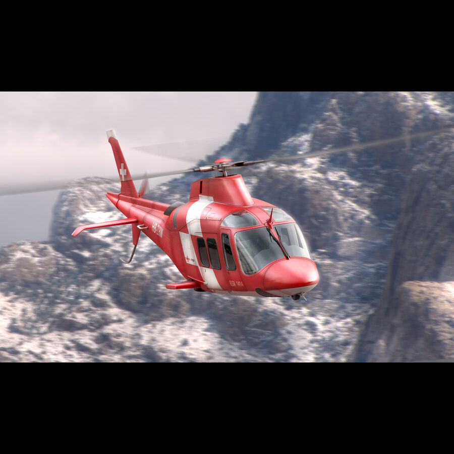 Agusta AW 109 Acil royalty-free 3d model - Preview no. 3