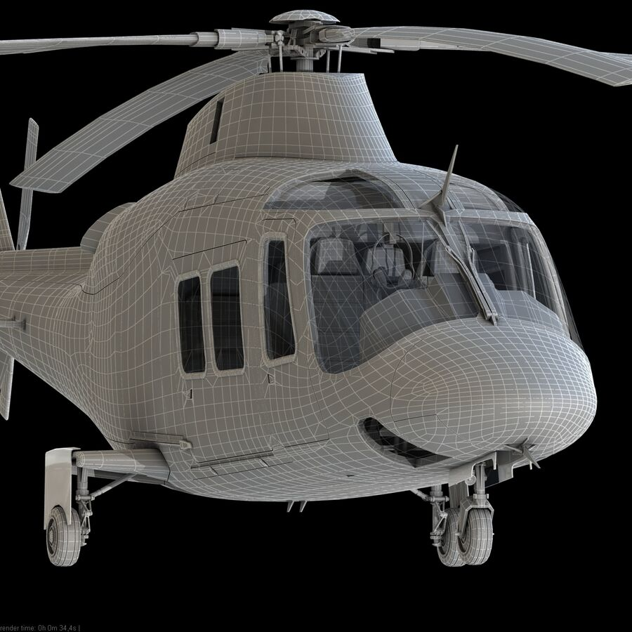 Agusta AW 109 Acil royalty-free 3d model - Preview no. 19