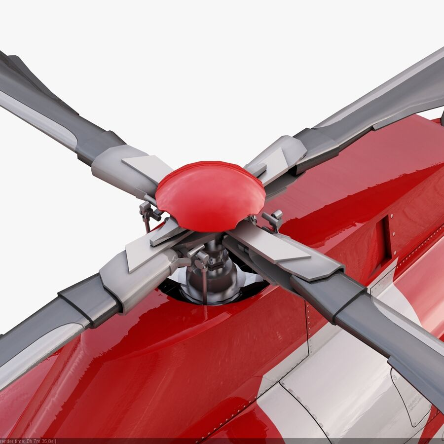 Agusta AW 109 Acil royalty-free 3d model - Preview no. 11