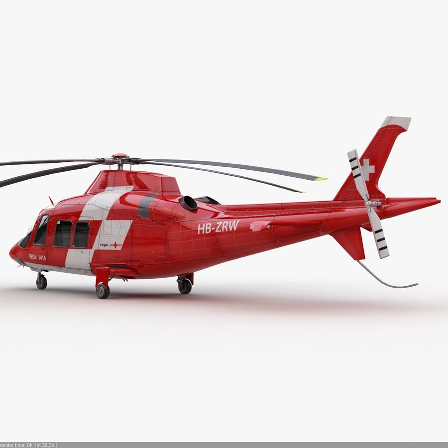 Agusta AW 109 Acil royalty-free 3d model - Preview no. 6