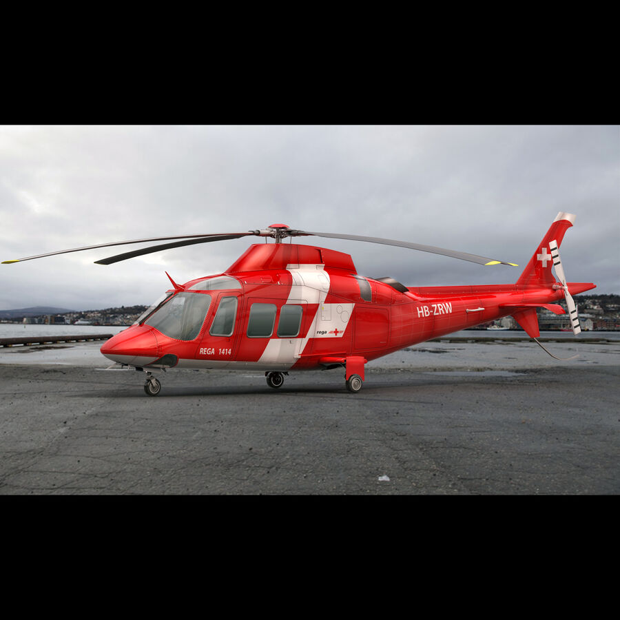 Agusta AW 109 Acil royalty-free 3d model - Preview no. 4