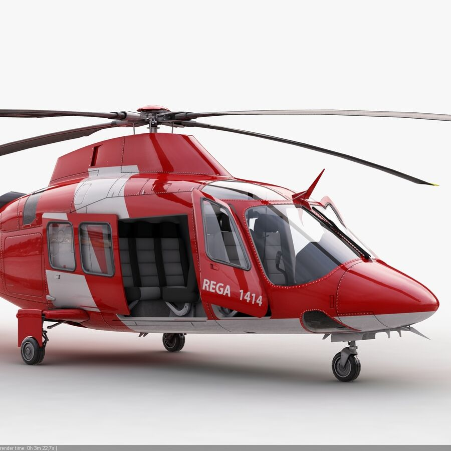 Agusta AW 109 Acil royalty-free 3d model - Preview no. 8