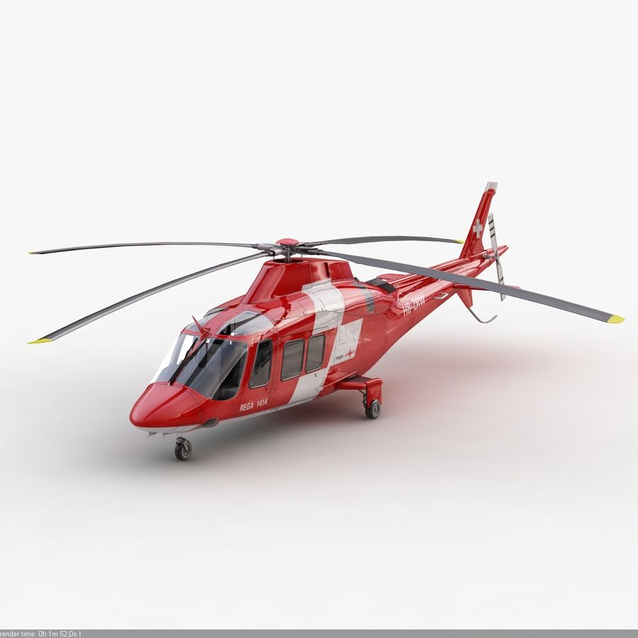 Agusta AW 109 Acil royalty-free 3d model - Preview no. 5