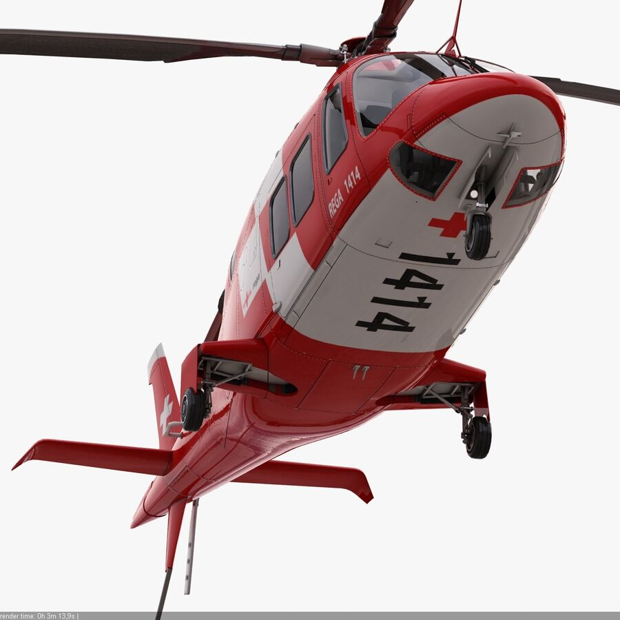 Agusta AW 109 Acil royalty-free 3d model - Preview no. 9