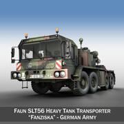 Transporteur de chars Faun STL-56 3d model