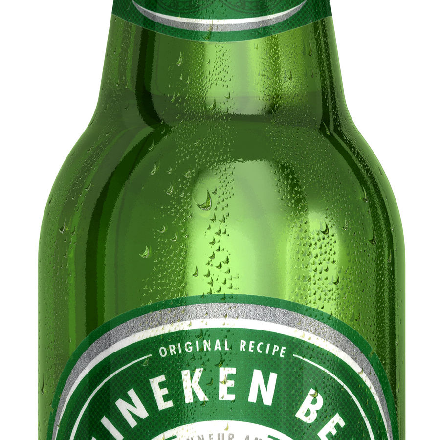 Heineken Bottle royalty-free 3d model - Preview no. 3