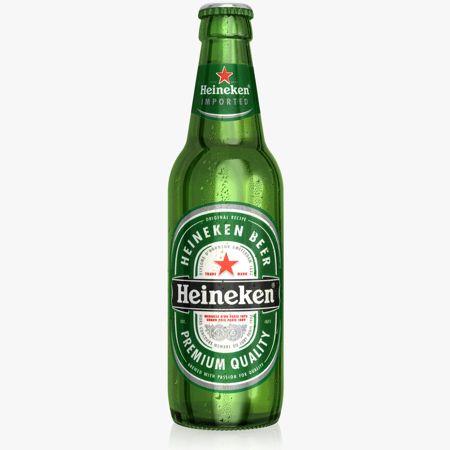 Heineken Bottle royalty-free 3d model - Preview no. 1