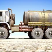 OLD Kamaz Tanker 3d model