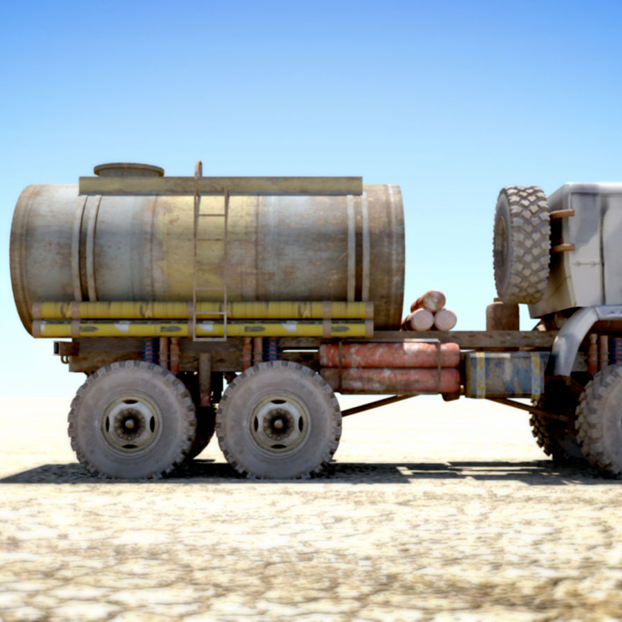 OLD Kamaz Tanker royalty-free 3d model - Preview no. 6