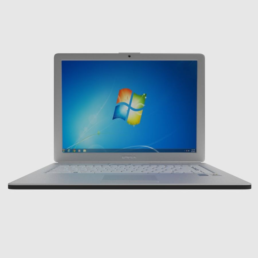 Classic Dell Inspiron Laptop royalty-free 3d model - Preview no. 2