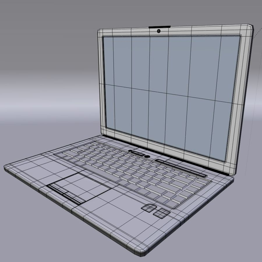 Classic Dell Inspiron Laptop royalty-free 3d model - Preview no. 6