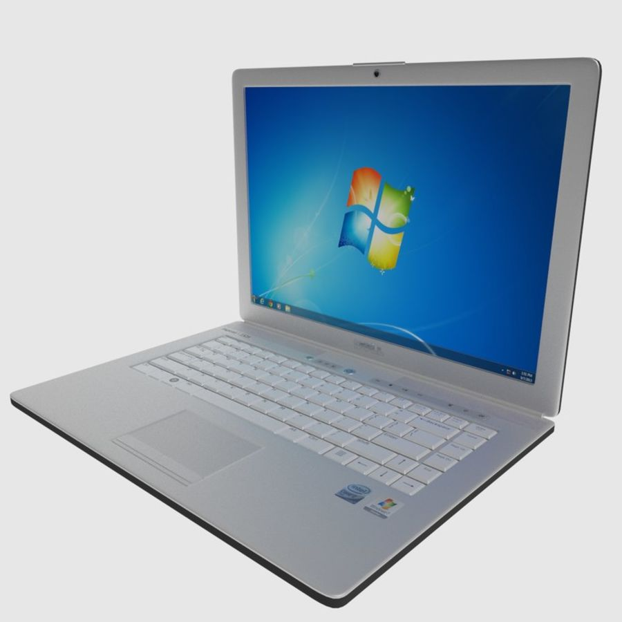 Classic Dell Inspiron Laptop royalty-free 3d model - Preview no. 1
