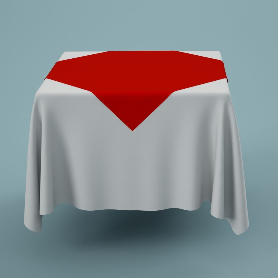 Tablecloth 01 royalty-free 3d model - Preview no. 2
