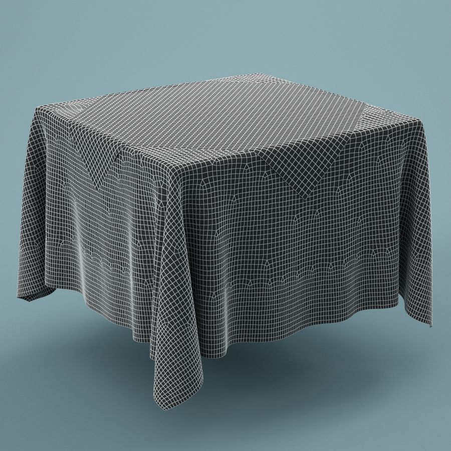 Tablecloth 01 royalty-free 3d model - Preview no. 3