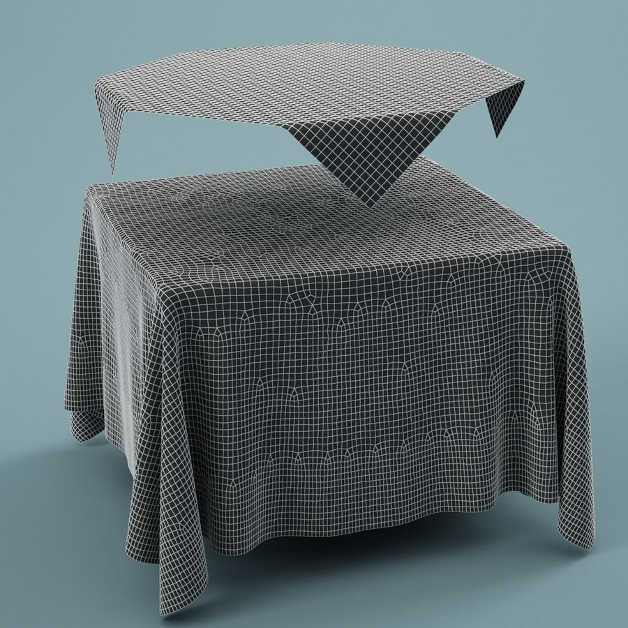 Tischdecke 01 royalty-free 3d model - Preview no. 5