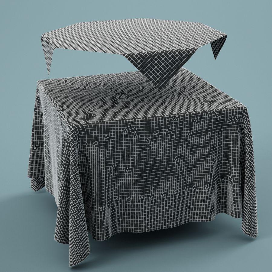 Masa örtüsü 01 royalty-free 3d model - Preview no. 5