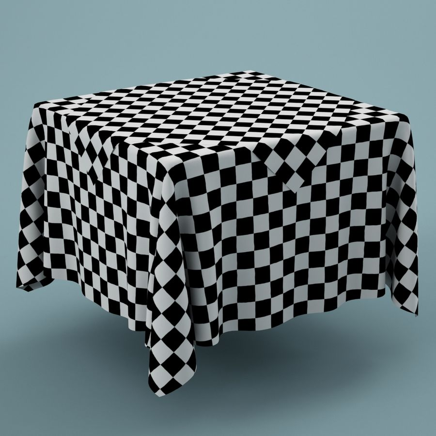 Tablecloth 01 royalty-free 3d model - Preview no. 4