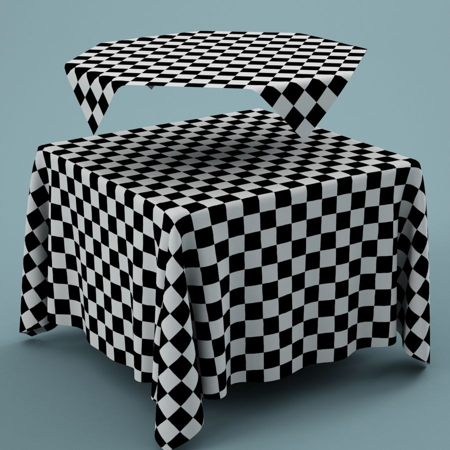 Tablecloth 01 royalty-free 3d model - Preview no. 6