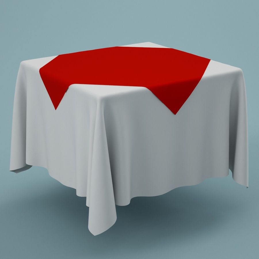 Tablecloth 01 royalty-free 3d model - Preview no. 1
