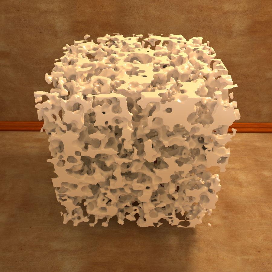 Structure en os spongieux en éponge royalty-free 3d model - Preview no. 6