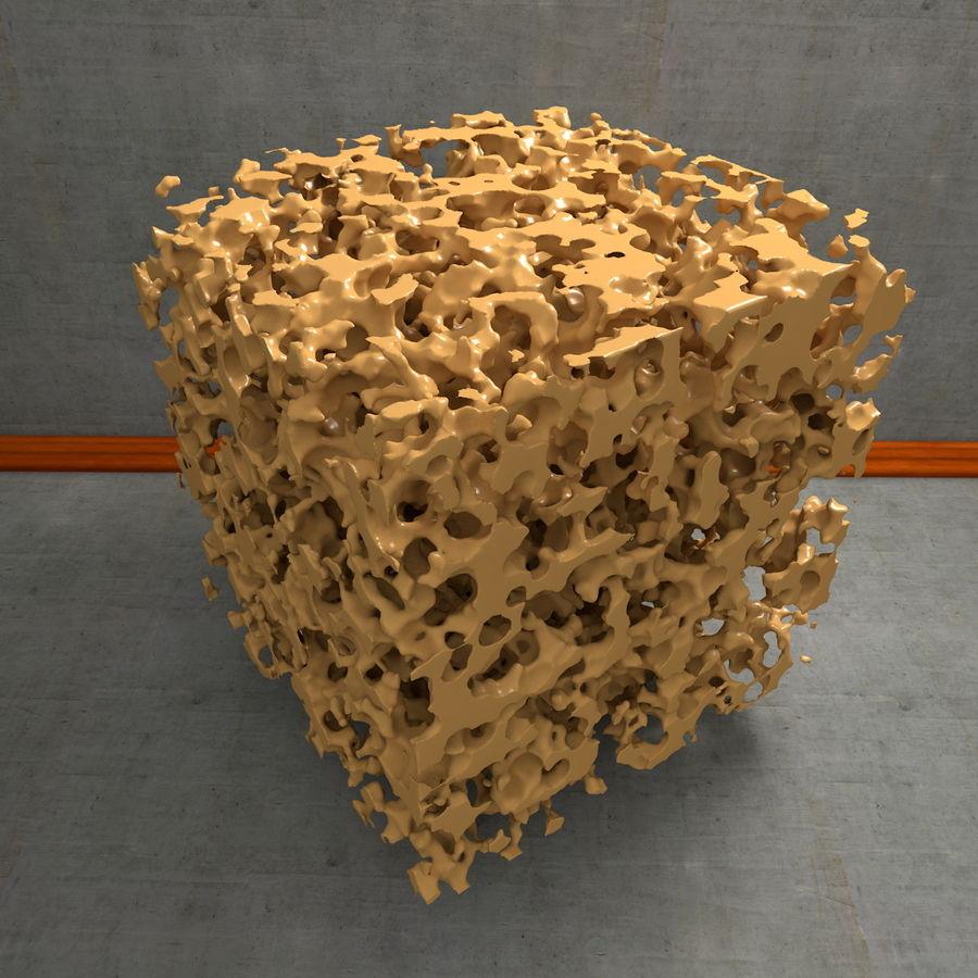 Structure en os spongieux en éponge royalty-free 3d model - Preview no. 17