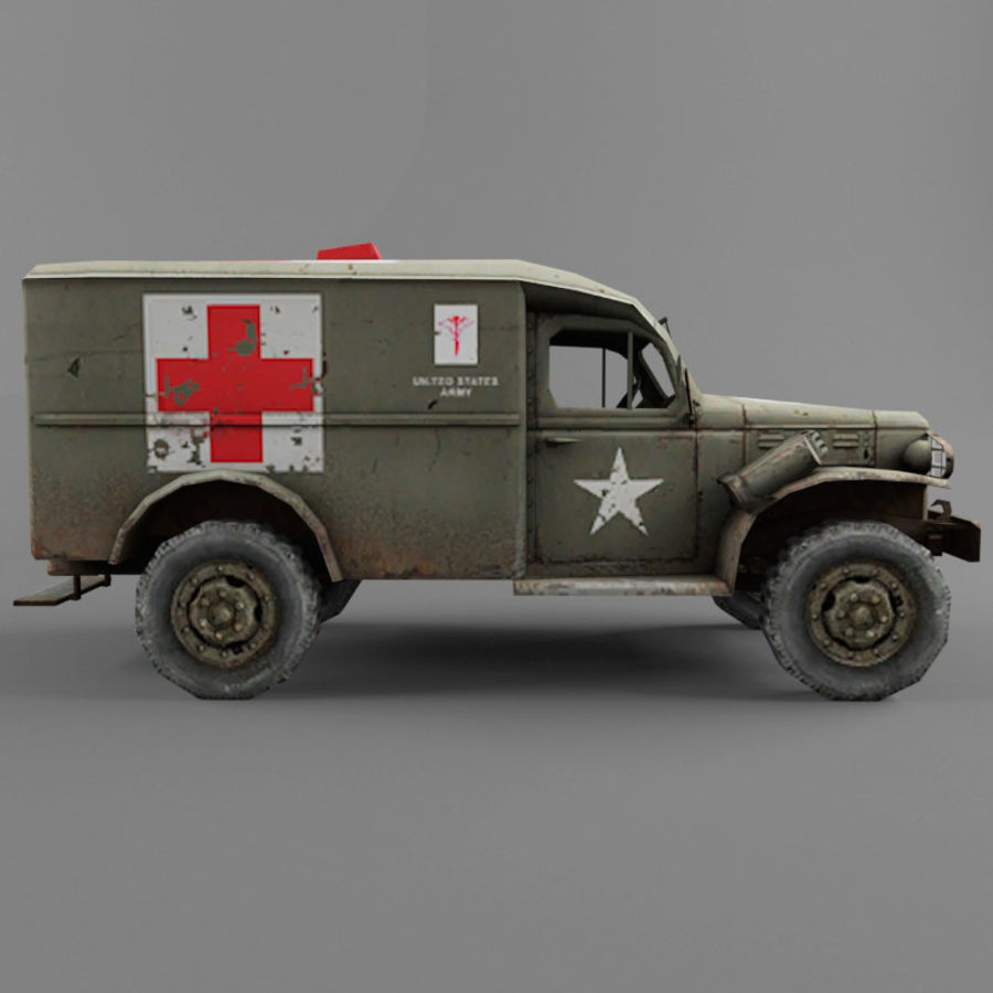 Dodge WC-54 royalty-free 3d model - Preview no. 6
