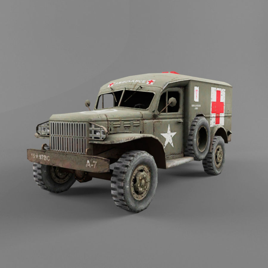 Dodge WC-54 royalty-free 3d model - Preview no. 1