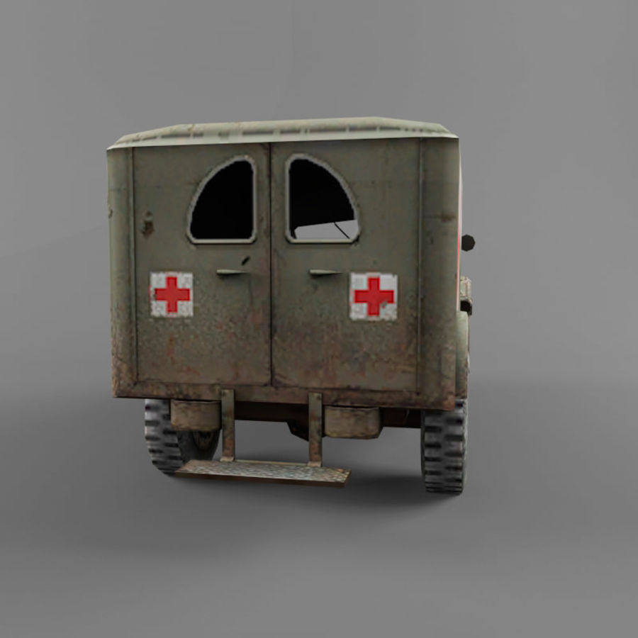 Dodge WC-54 royalty-free 3d model - Preview no. 4