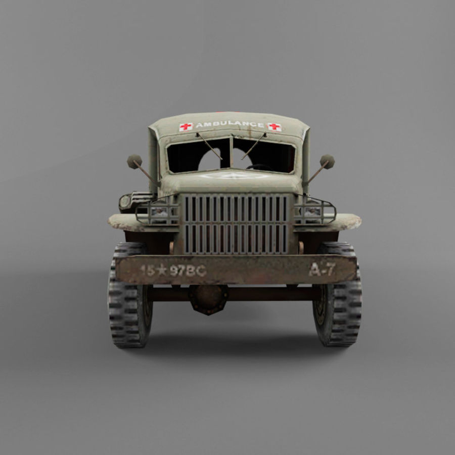 Dodge WC-54 royalty-free 3d model - Preview no. 8