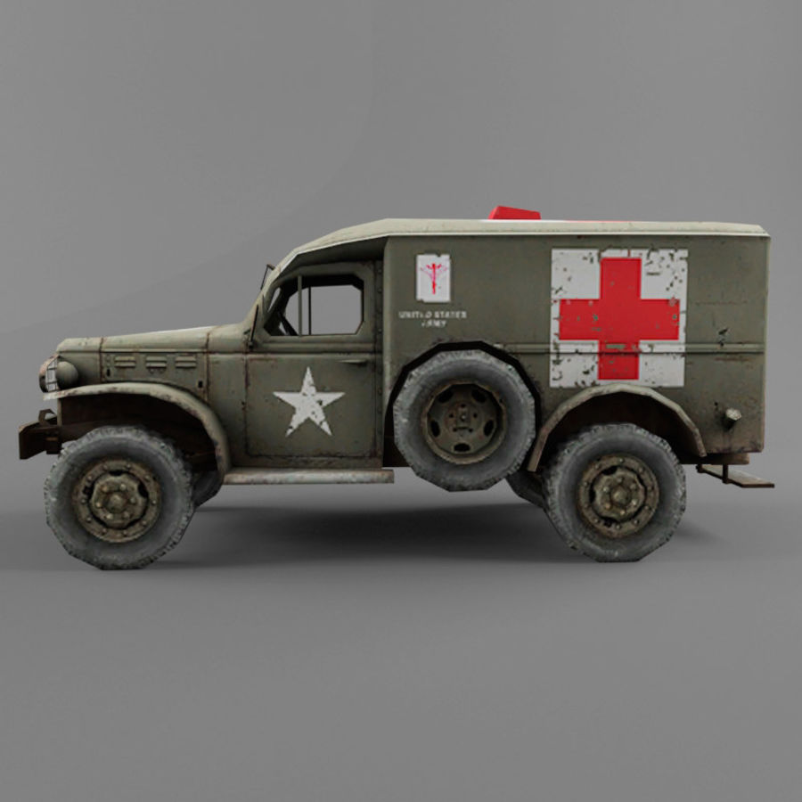 Dodge WC-54 royalty-free 3d model - Preview no. 2