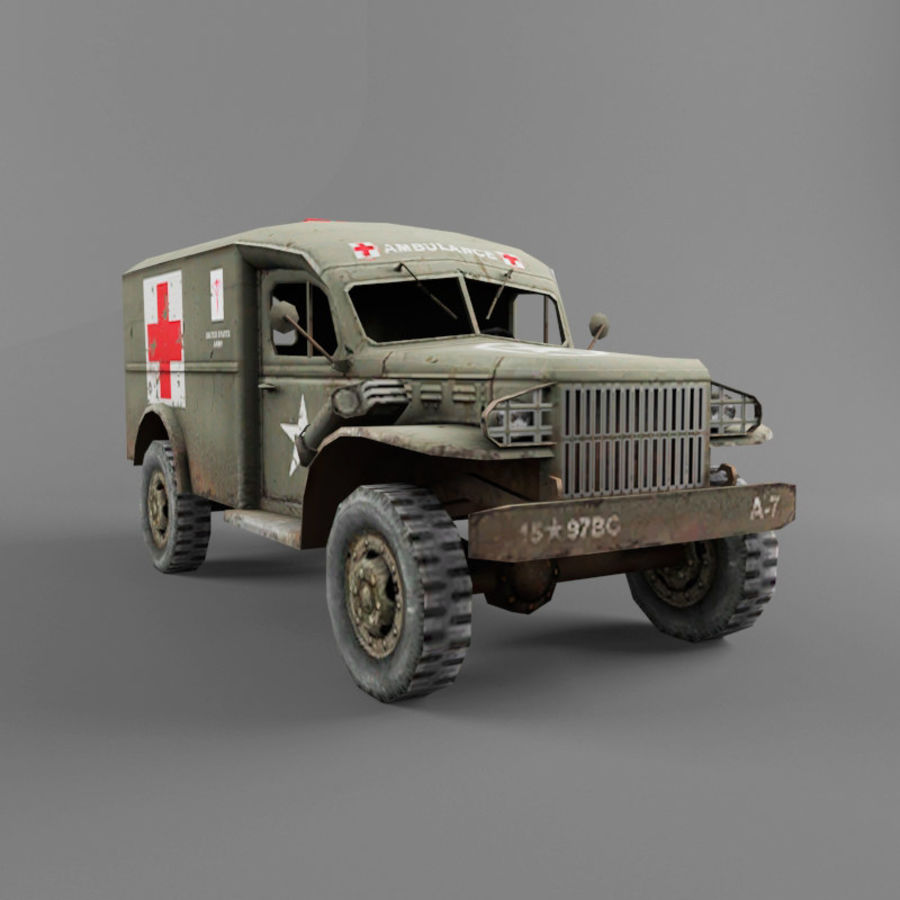 Dodge WC-54 royalty-free 3d model - Preview no. 7