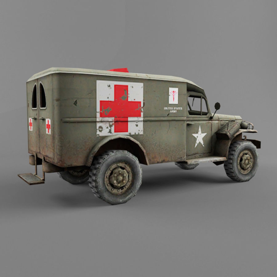 Dodge WC-54 royalty-free 3d model - Preview no. 5