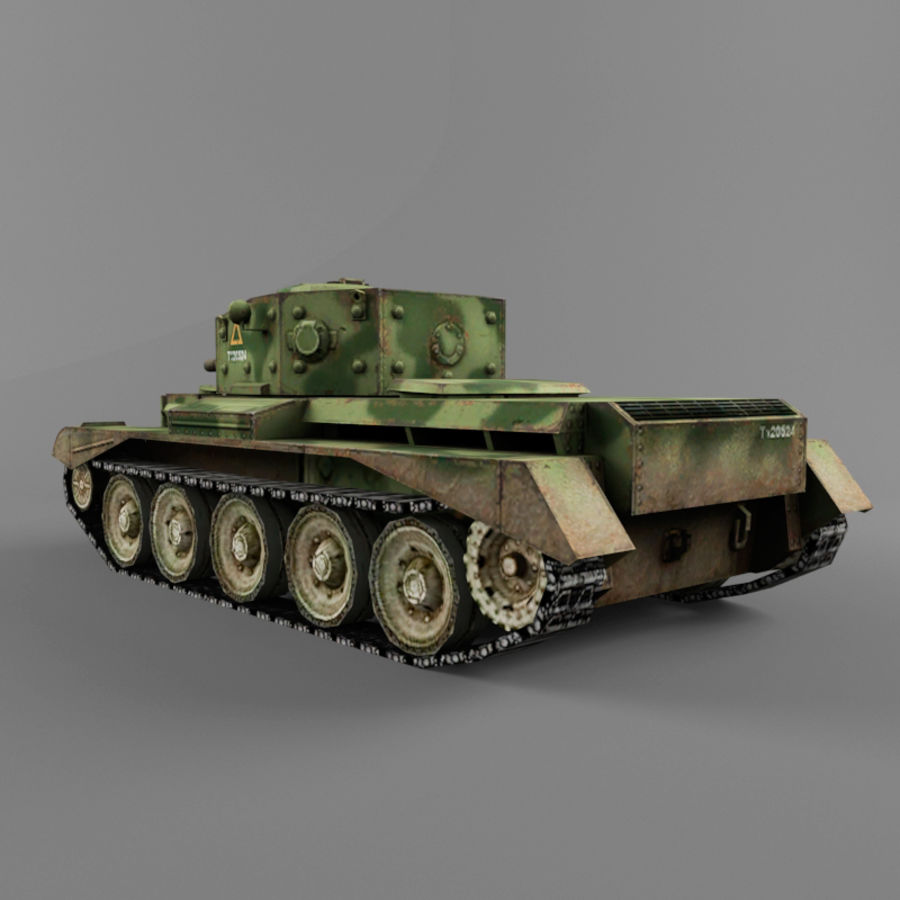 Średni czołg Cromwell royalty-free 3d model - Preview no. 3