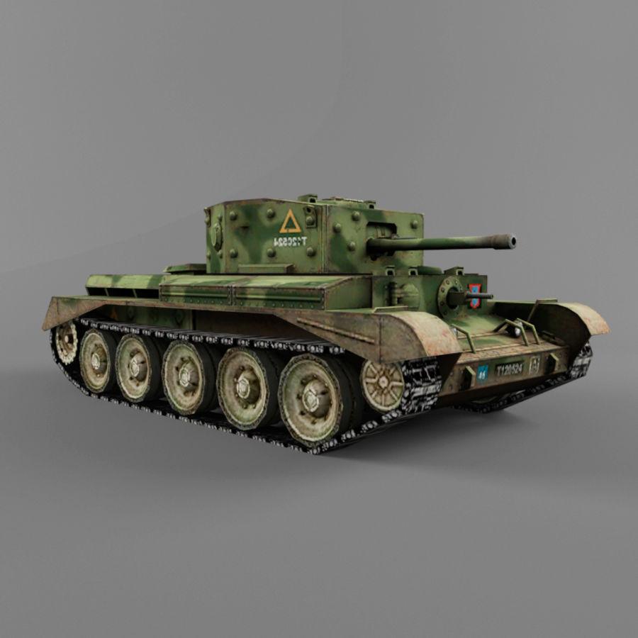 Średni czołg Cromwell royalty-free 3d model - Preview no. 6